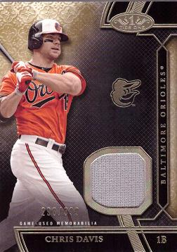 Chris Davis Game Worn Jersey Baseball Card