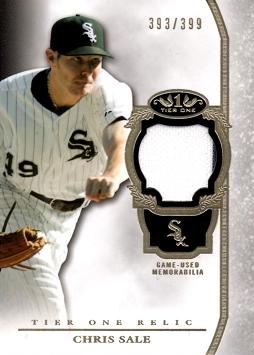 Chris Sale Game Worn Jersey Baseball Card