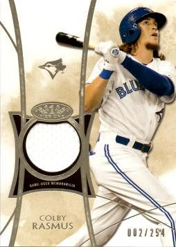 Colby Rasmus Game Worn Jersey Card