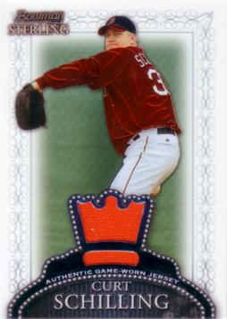 Curt Schilling Game Worn Jersey Card