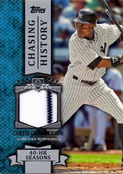 Curtis Granderson Game Worn Jersey Card