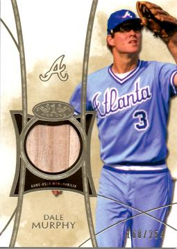 Dale Murphy Game Used Bat Baseball Card