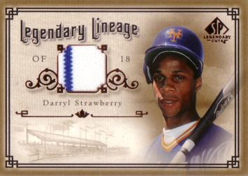 Darryl Strawberry Game Worn Jersey Card