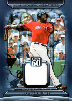 David Ortiz Game Worn Jersey Baseball Card