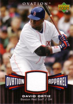 David Ortiz Game Worn Jersey Card