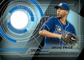 David Price Game Worn Jersey Baseball Card