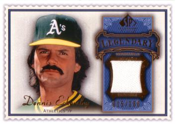 Dennis Eckersley Game Worn Jersey Card