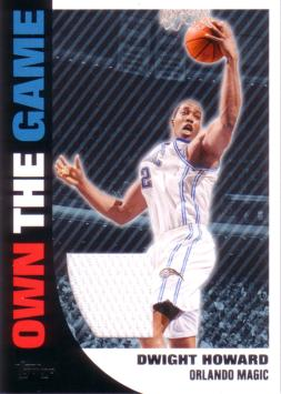 Dwight Howard Game Worn Jersey Card