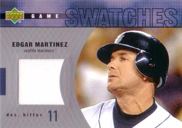 Edgar Martinez Game Worn Jersey Card