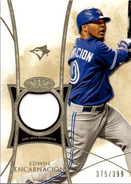 Edwin Encarnacion Game Worn Jersey Card
