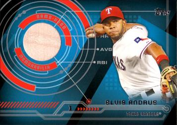 Elvis Andrus Game Used Bat Baseball Card