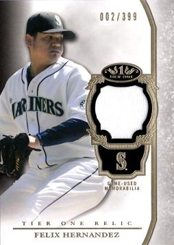 Felix Hernandez Game Worn Jersey Card