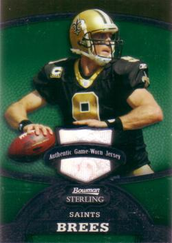 Drew Brees Game Worn Jersey Card