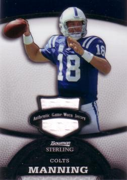 Peyton Manning Game Worn Jersey Card