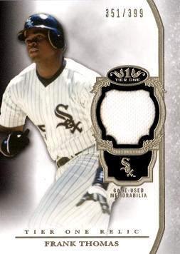 Frank Thomas Game Worn Jersey Card
