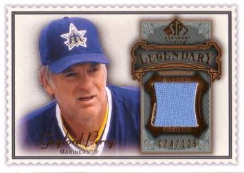 Gaylord Perry Game Worn Jersey Baseball Card