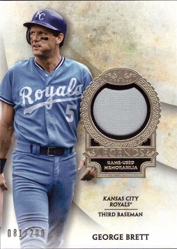 George Brett Game Worn Jersey Baseball Card