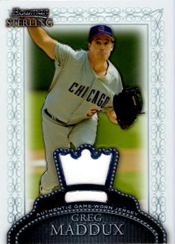 2005 Bowman Sterling Greg Maddux Game Worn Jersey Card