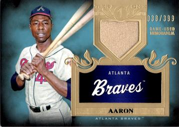 2011 Topps Tier 1 Hank Aaron Game Worn Jersey Card
