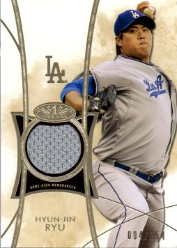 Hyun-Jin Ryu Game Worn Jersey Card