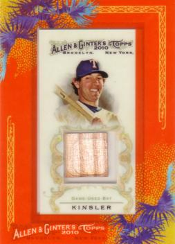 Ian Kinsler Game Used Bat Card