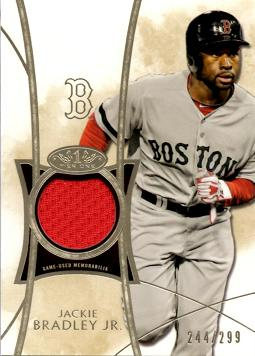 Jackie Bradley Jr Game Worn Jersey Card