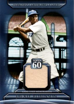 Jackie Robinson Game Worn Jersey Baseball Card