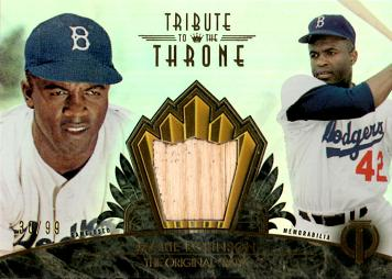 2014 Topps Tribute Jackie Robinson Game Used Bat Baseball Card