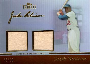 Jackie Robinson Game Worn Jersey Card