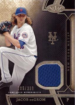 Jacob deGrom Game Worn Jersey Card