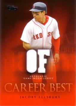 Jacoby Ellsbury Game Worn Jersey Card