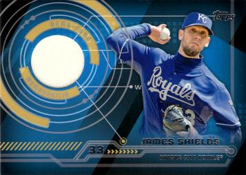 2014 Topps Relics James Shields Game Worn Jersey Baseball Card