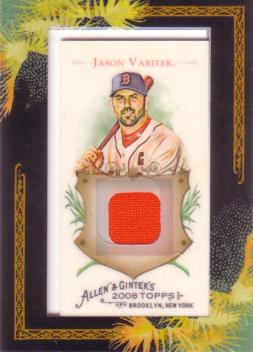 Jason Varitek Game Worn Jersey Card
