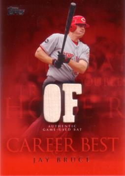 Jay Bruce Game Used Bat Card
