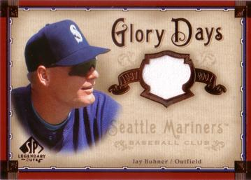 Jay Buhner Game Worn Jersey Card