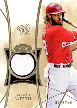 Jayson Werth Game Worn Jersey Card