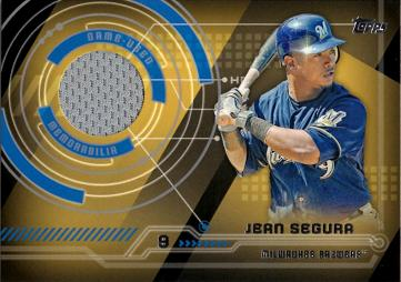Jean Segura Game Worn Jersey Baseball Card
