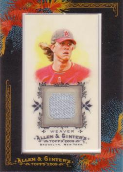 Jered Weaver Game Worn Jersey Card