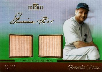 Jimmie Foxx Game Used Bat Card