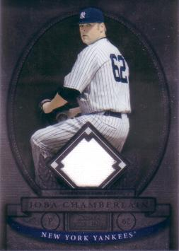 Joba Chamberlain Game Worn Jersey Card