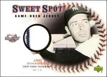 Joe DiMaggio Game Worn Jersey Card
