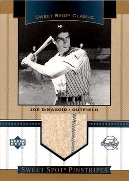 2003 Upper Deck Sweet Spot Joe DiMaggio Game Worn Jersey Baseball Card