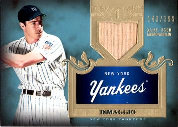 2011 Topps Tier 1 Joe DiMaggio Game Used Bat Card
