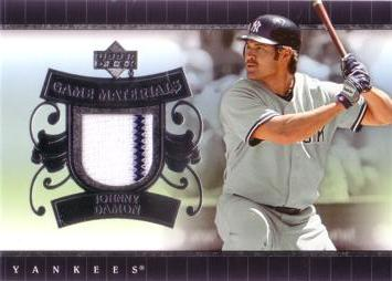 Johnny Damon Game Used Jersey Card