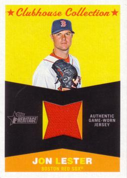Jon Lester Game Worn Jersey Card