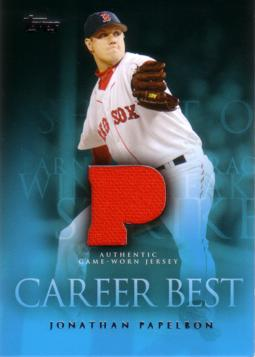 Jonathan Papelbon Game Worn Jersey Card