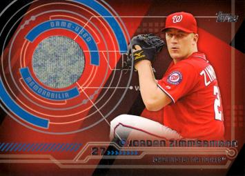 Jordan Zimmermann Game Worn Jersey Baseball Card