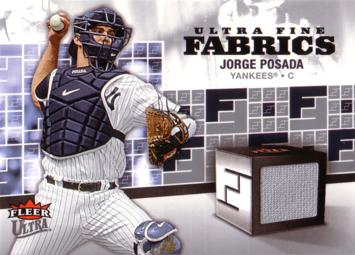 Jorge Posada Game Worn Jersey Card