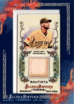 2011 Topps Allen & Ginter Jose Bautista Game Worn Jersey Card