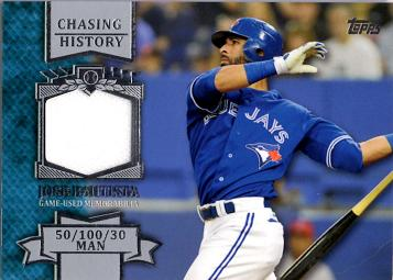 Jose Bautista Game Worn Jersey Card